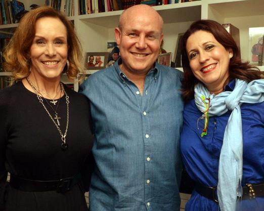 Adriana Fernandes, Paulo Muller e Edna Freitas