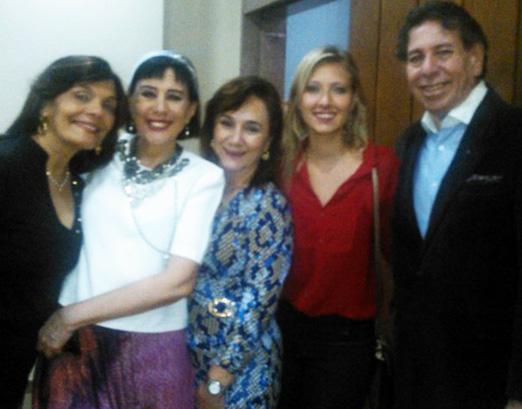 Camilla Pereira, Yacy Nunes, Cinthia Tenório, Lara Chiemlewski e Walnei Mendonça
