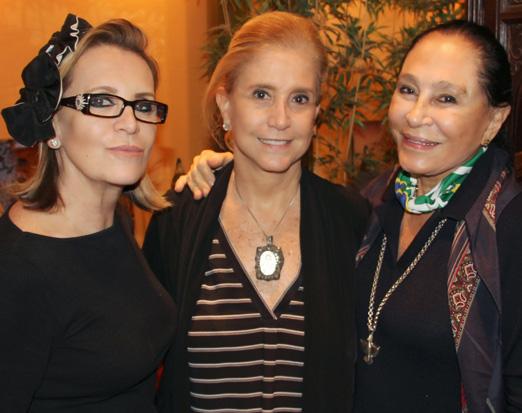 Fátima Martins, Madeleine Saade e Miriam Gagliardi