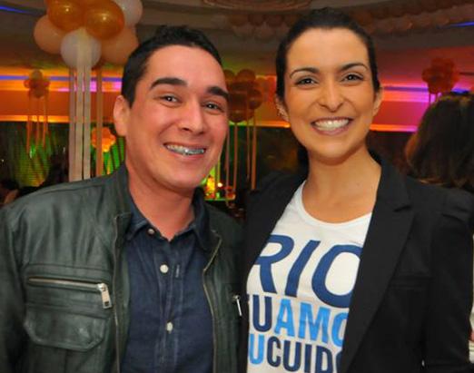Hugo Oliveira e Talia Galhardo