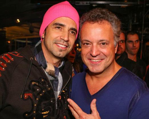 Latino e Rodrigo Vieira na Casa Pelé do Futebol