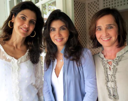 Maria Pia, Ana Cecilia e Bebel