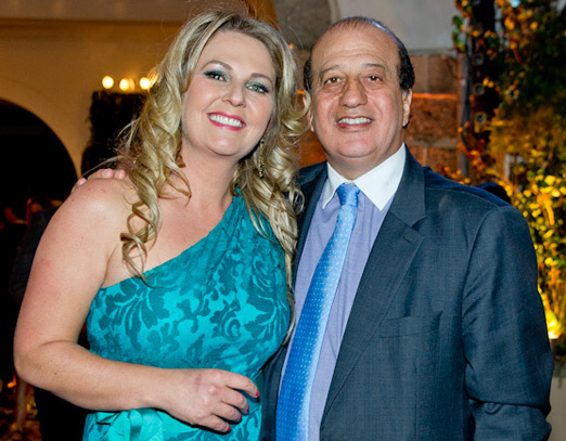O ministro Augusto Nardes e sua Adriane