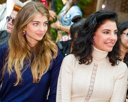 Antonia Frering com a filha Maria