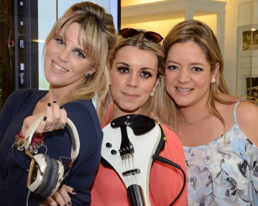 DJ Scarlet, Daiana Mazza e Bianca Gibbon