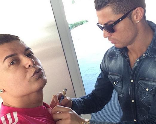 David Brazil e Cristiano Ronaldo