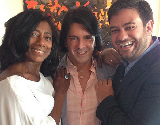 Glória Maria, André Ramos e Bruno Astuto
