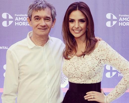 Serginho Groisman e Carol Celico