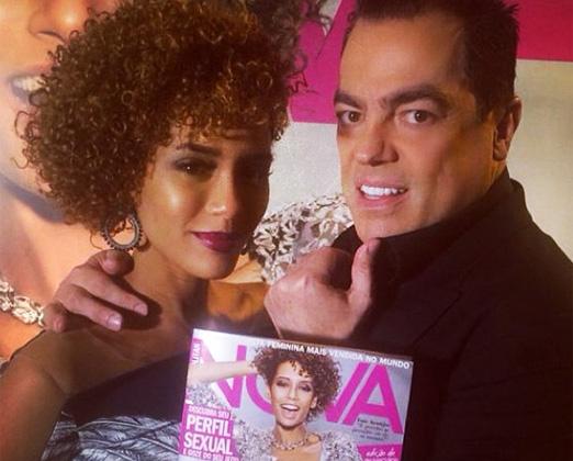 Taís Araújo e Marco Antonio de Biaggi
