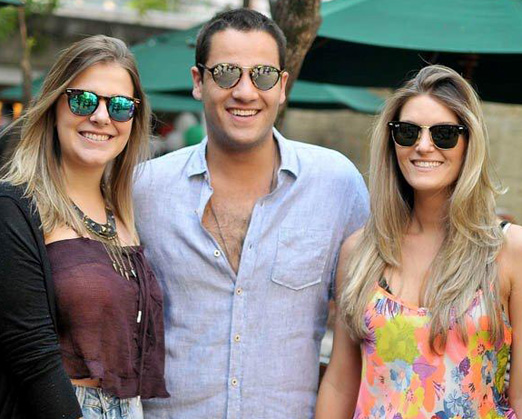 Karina Leal, Murillo Lima e Claudia Gonzales