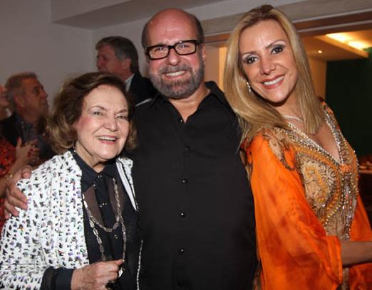Lucy com Luiz Felipe e Isabela