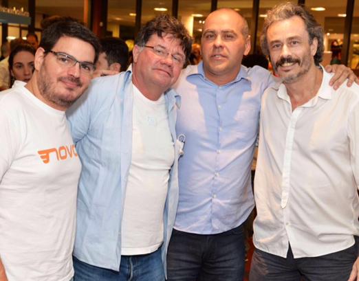Rodrigo Constantino, Marcelo Madureira, Alexandre Borges e Guilherme Fiúza