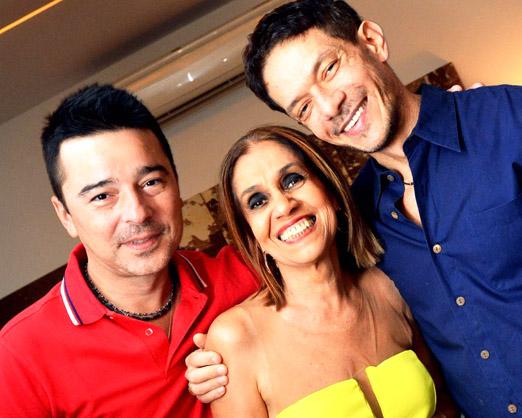 Carlos Tufvesson, Loreta Burlamaqui e André Piva