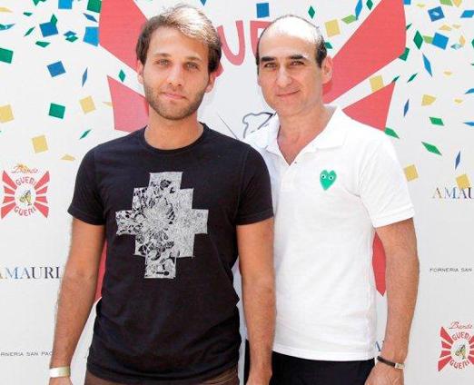 Amir Slama e o filho Alex