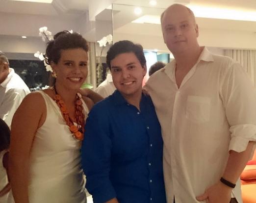 Narcisa com Filipe Mota e o DJ Sergi Insomnia