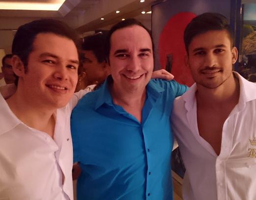 Thiago Gomes, Helcio Hime e Carlos Gardes