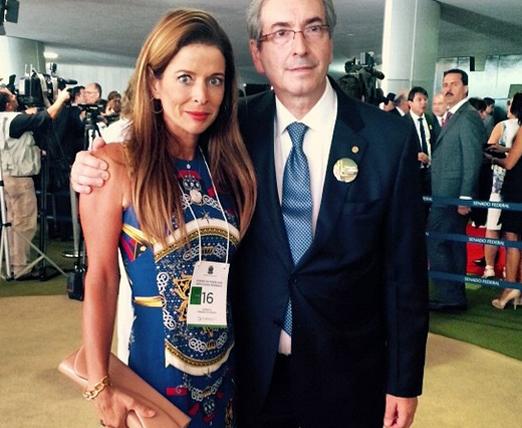 Cláudia Cruz e o marido Eduardo Cunha