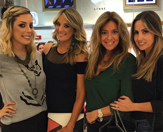 Fabiana com Ticiane, Sacha e Melissa