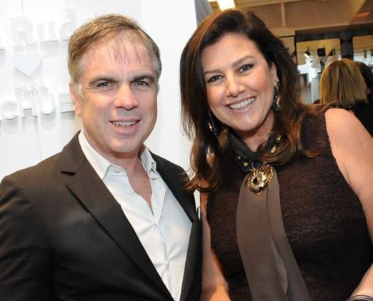 Flávio Rocha e Maria Pia Trussardi