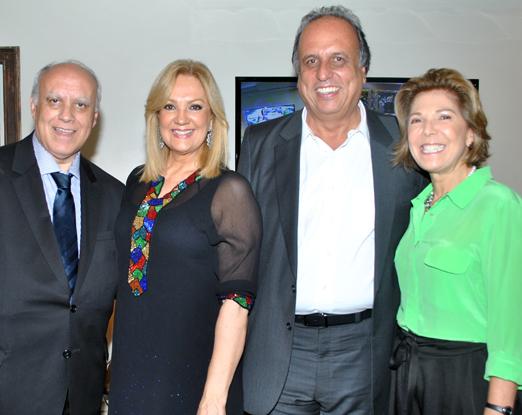 Luiz Fernando Ribeiro de Carvalho, Alda Soares, Luiz Fernando Pezão e Maria Lúcia Jardim
