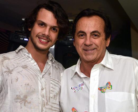 Ricardo Rique e o filho Newton