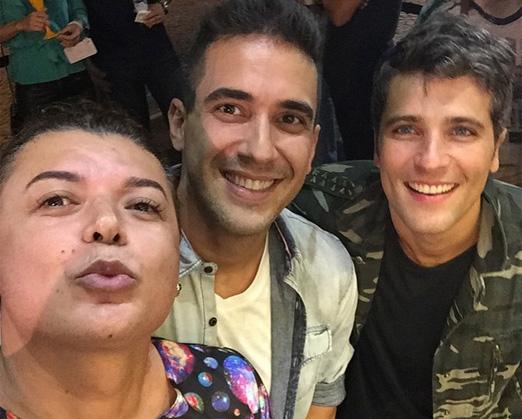 David Brazil, André Marques e Bruno Gagliasso