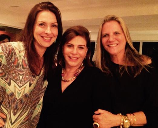 Mylene Peltier, Andrea Buffara e Maninha Barbosa