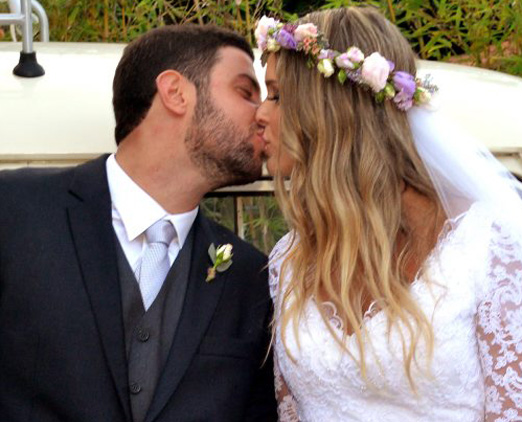 Os noivos Bernardo e Paula