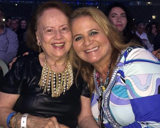 Sylvinha e a filha Renata