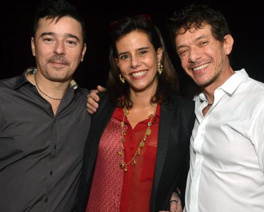 Carlos Tufvesson, Narcisa Tamborindeguy e  André Piva
