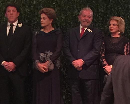 David Uip, Dilma, Lula e Dona Marisa Letícia