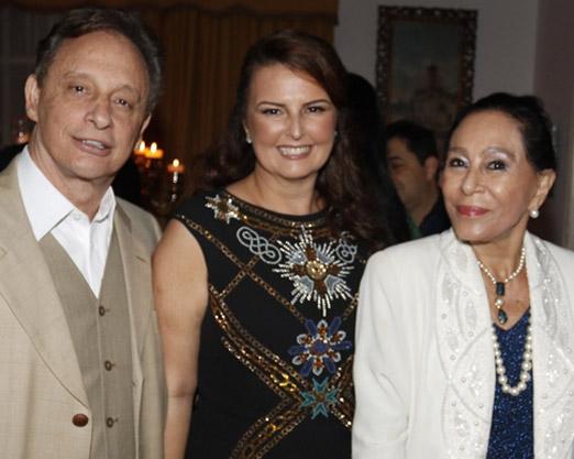 Luiz e Mara Bandeira com Miriam Gagliardi
