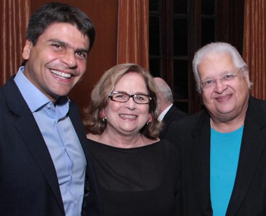 Pedro Paulo, Hildegard Angel e Carlos Alberto Serpa