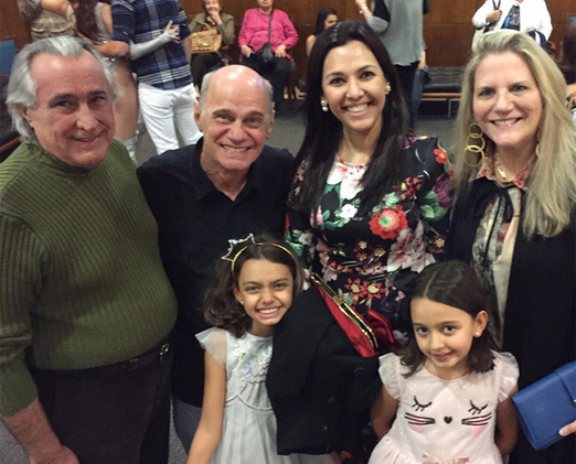 Boechat, Veruska e as filhas com Leleco e Maninha