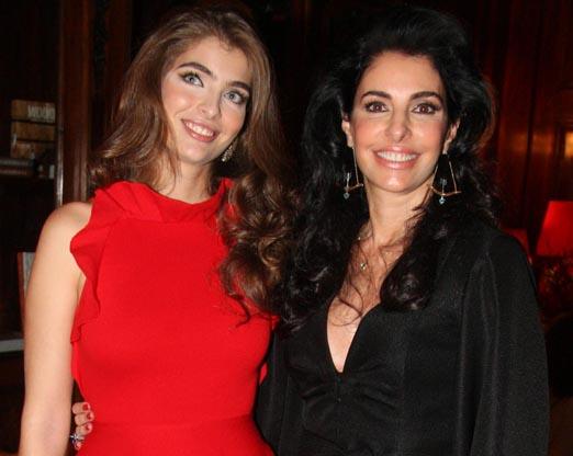 Maria Frering com a mãe Antonia