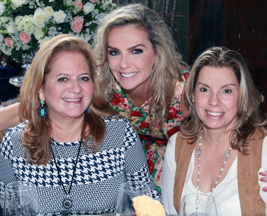 Renata Fraga, Márcia Veríssimo e Tania Pereira