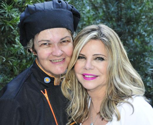 Cecilia com a chef Margareth Rocha