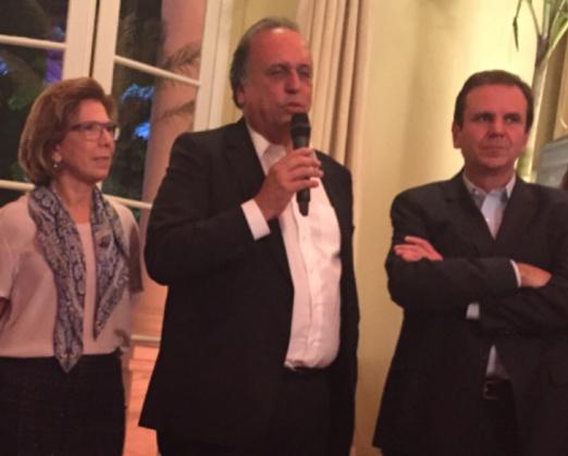 Maria Lúcia Jardim, Luiz Fernando Pezão e Eduardo Paes