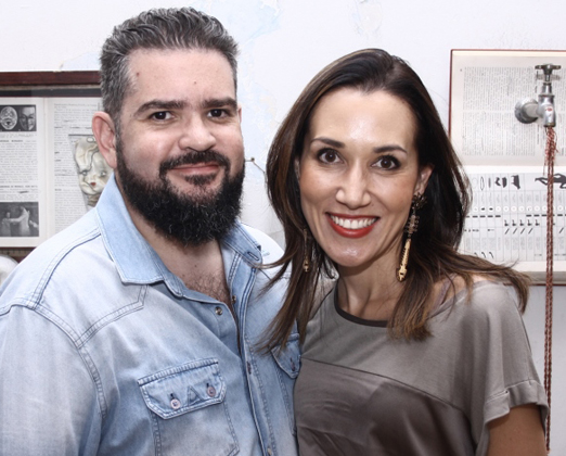 Pablo Toledo e Gisele Kato