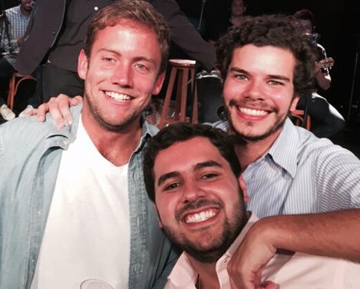 Rafael Fraga, Dudu Clark e João Gabriel