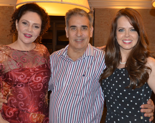 Thais de Campos, Luis Villarino e Mariza Marchetti