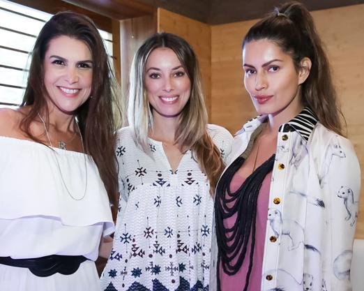 Ana Paula Padua, Fabiola Cabral e Brenda Costa
