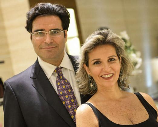 Fabio Daher e Flavia Sayeg