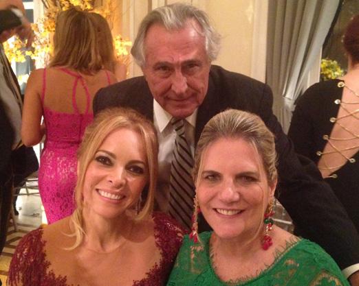 Fabiola David com o casal Leleco e Maninha Barbosa