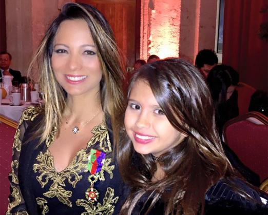 Marcia Romão e a filha Mariana