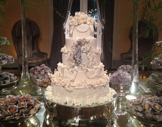 Mesa do bolo e dos doces
