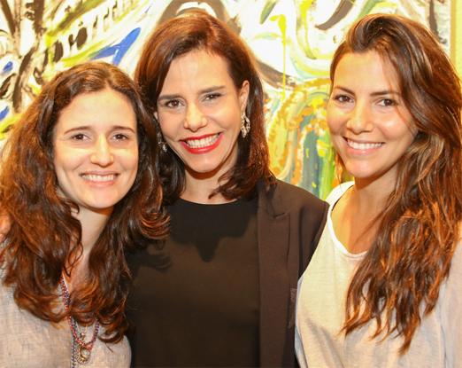 Narcisa Tamborindeguy com a filha Mariana e a sobrinha Nicole