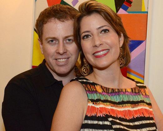 O casal Alan Maxell e Andrea Mendonça