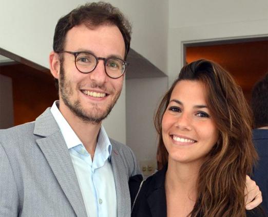 Ricardo Manela e Nicole Tamborindeguy