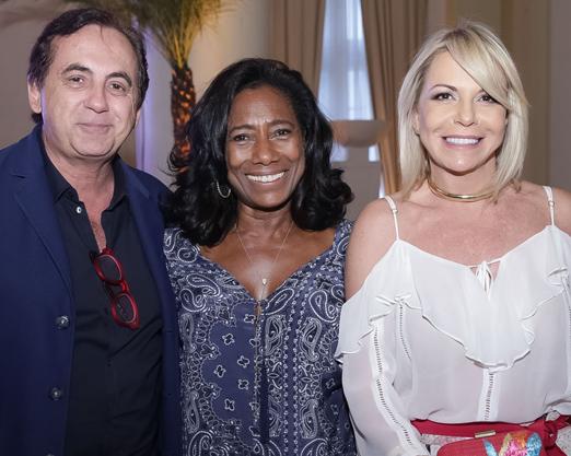 Ricardo Rique, Glória Maria e Nina Kauffmann